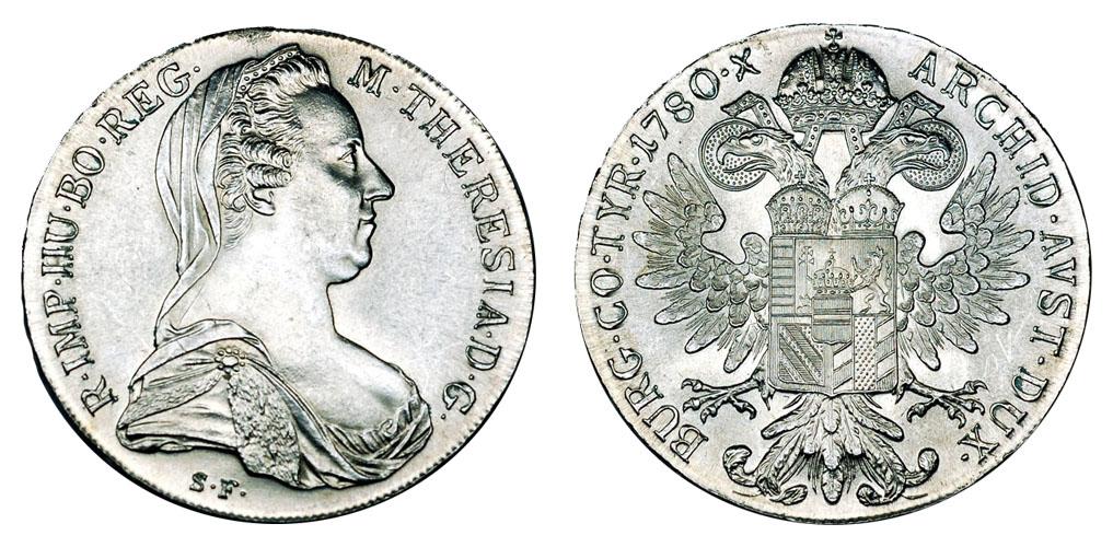 Австрия Талер 1780 Рестрайк