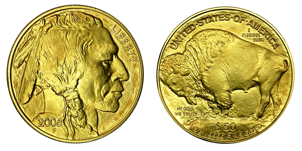 Иностранные Золотые монеты весом в 1 унцию