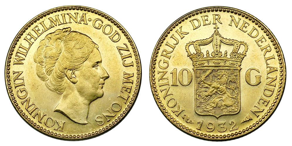 Нидерланды 10 гульденов