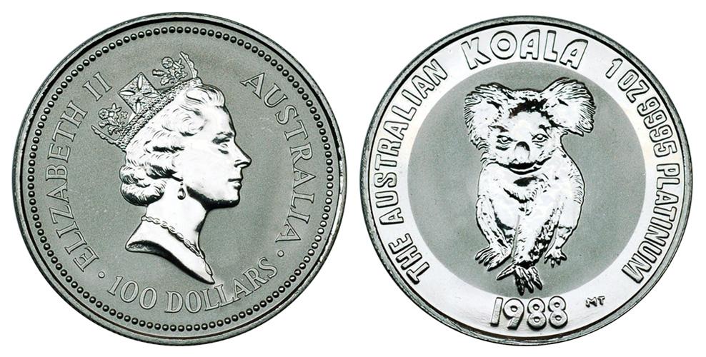 Платиновые монеты весом в 1 унцию