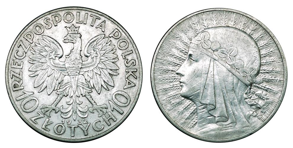 Польша 10 злотых 1932-1939