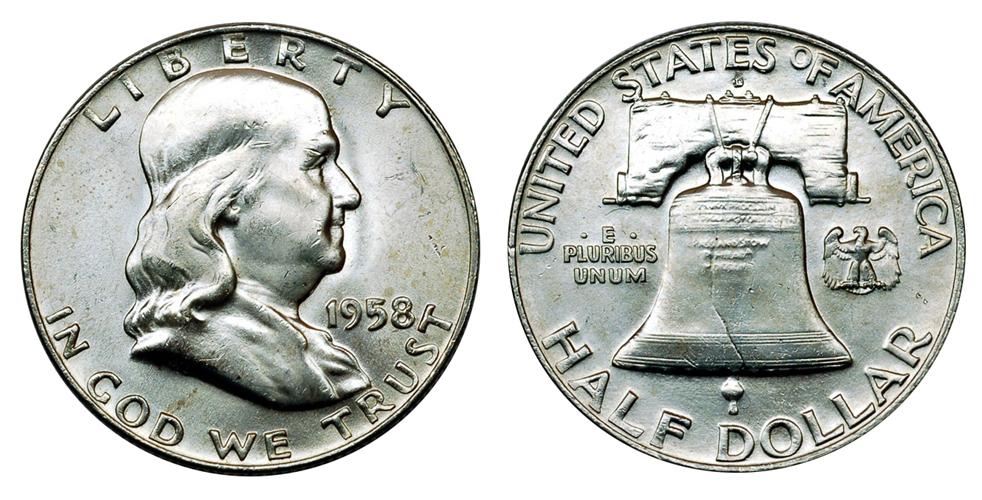 США 0.5 доллара до 1964