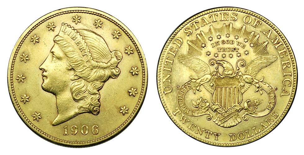 США 20 долларов 1849-1933