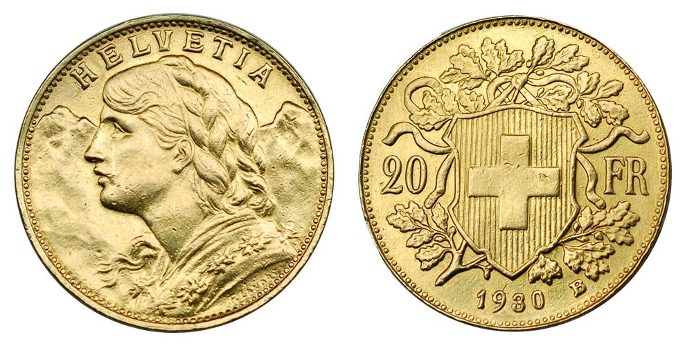 Швейцария, Франция, Бельгия 20 франков