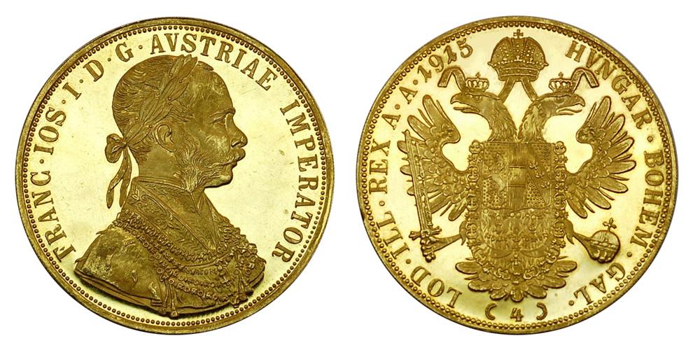 Австрия 4 дуката до 1915 г.