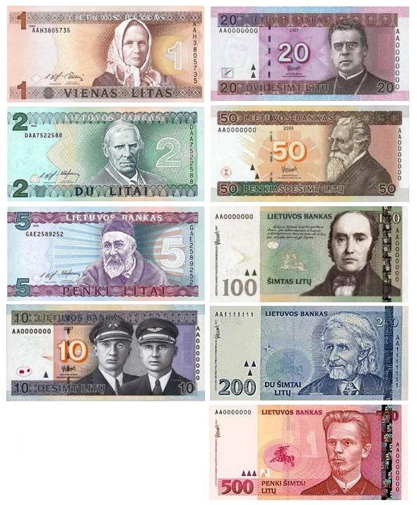 Литовские литы банкноты