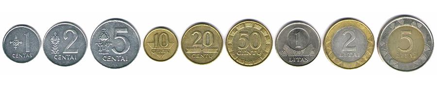 Литовские литы монеты