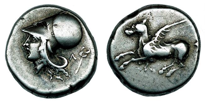 Акарнания, г. Лефкас Статер (около 390 – 375 гг. до н.э.), серебро E120-150
