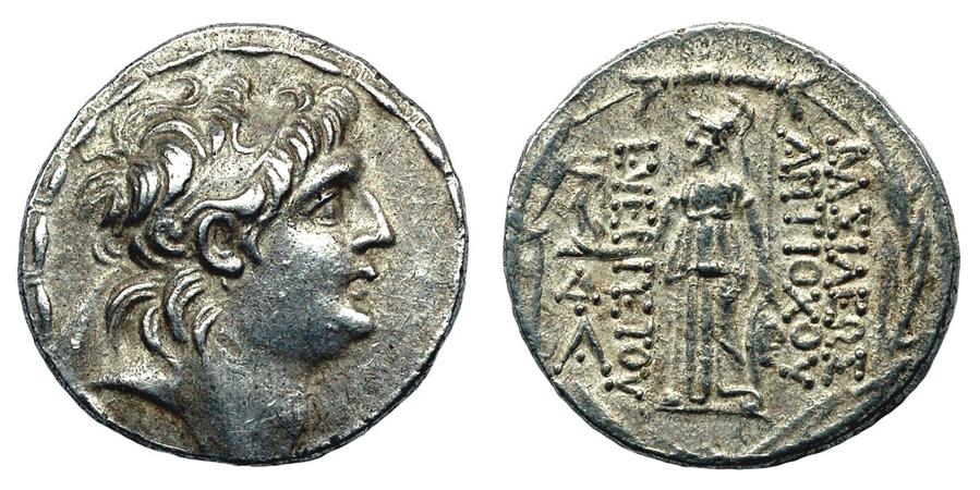 Государство Селевкидов Тедрадрахма Антиоха VII Эвергета (138 – 129 гг. до н.э.), серебро E110-140