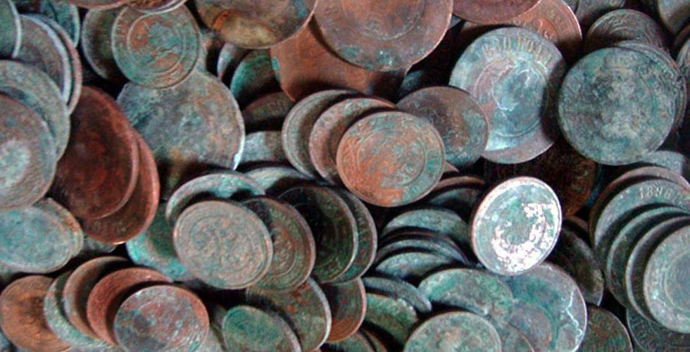 Клад медных монет образца 1867-1917 годов