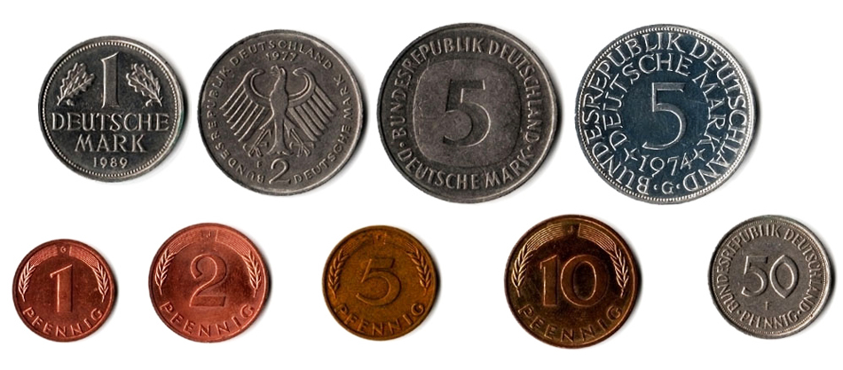 Немецкие марки монеты