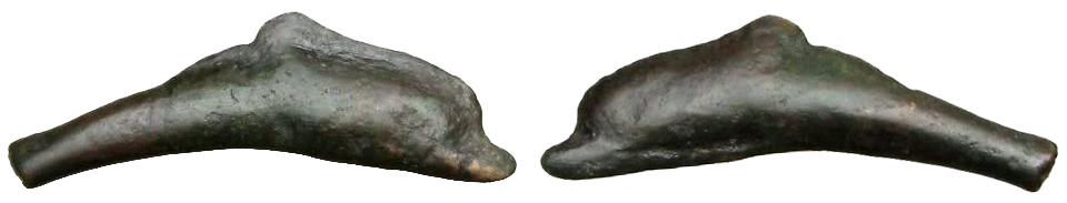 Ольвия Монета-дельфин (V-IV вв. до н.э.), бронза около E5