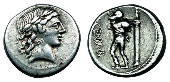 Республиканский Рим Денарий (около 82 г. до н.э.), серебро E40-60