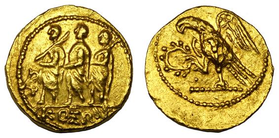 Скифия, Гето-даки Статер (50-25 гг. до н.э.), золото E500-600