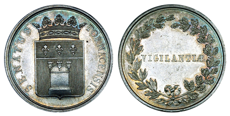 Бельгия Жетон Сената города Турне (серебро, диаметр 32 мм), цена 16-20 евро