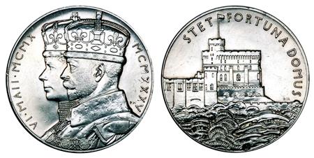 Великобритания Жетон 25 лет правления Георга V 1935 (серебро, диаметр 32 мм), цена 13-16 евро