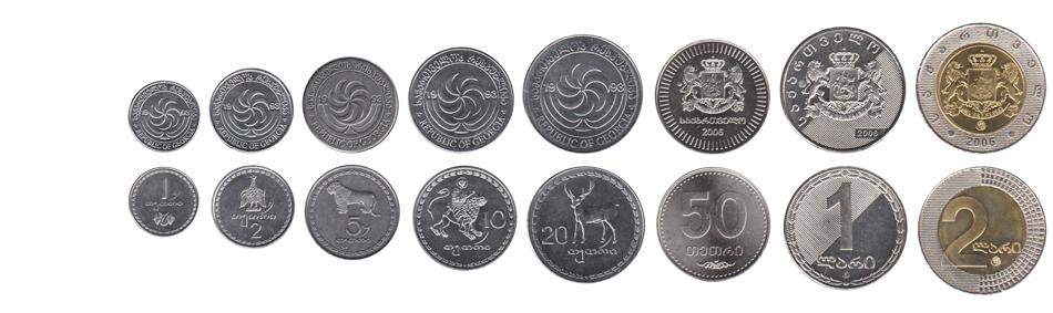 Грузинские лари в монетах