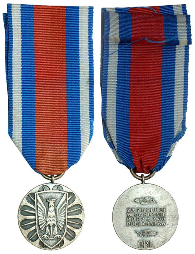 Польша Медаль За заслуги в охране общественного порядка 2-ой степени (металл с серебрением, диаметр 32 мм), цена 2.5-3 евро