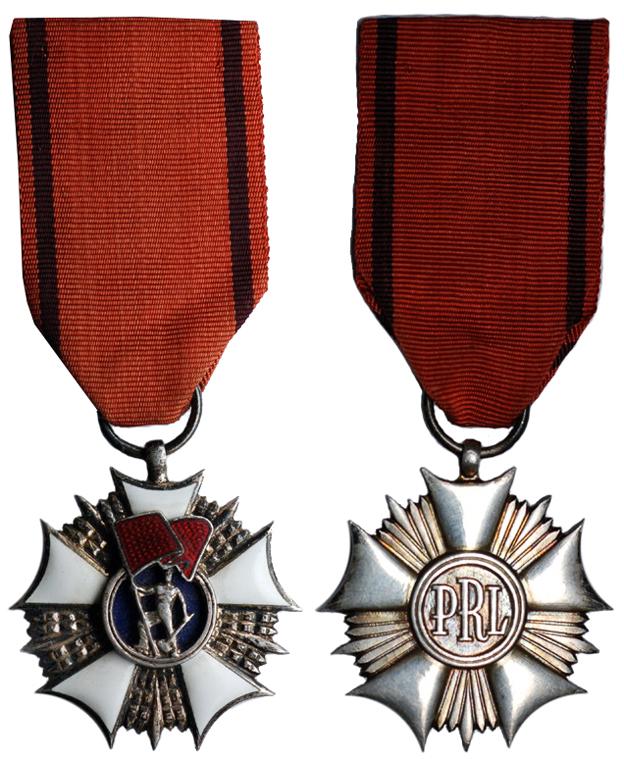 Польша Орден Знамя труда (эмаль, металл с серебрением, диаметр 43 мм), цена 6-7.5 евро
