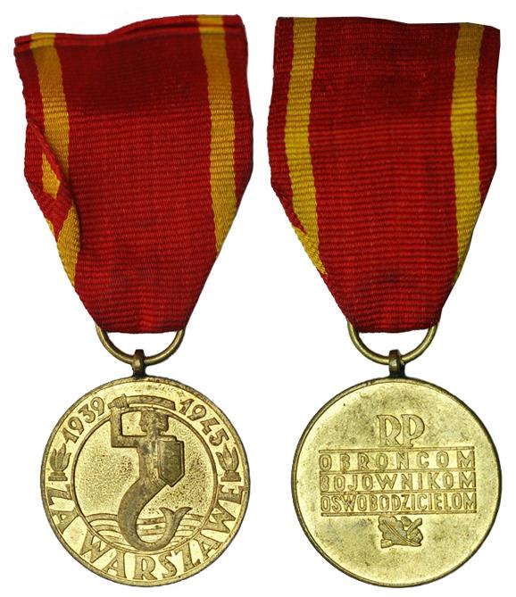 Польша Польша Медаль За Варшаву 1939-1945 (бронза с позолотой, диаметр 33 мм), цена 4-5 евро
