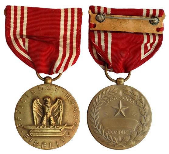 США Медаль За безупречную службу (бронза, диаметр 32 мм), цена 3-4 доллара