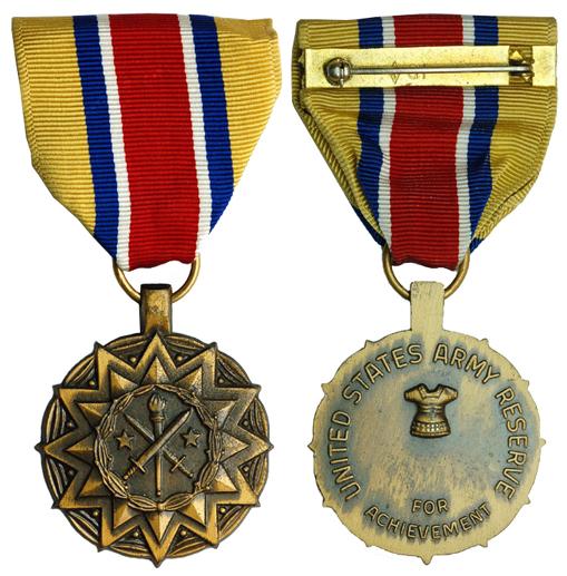 США Медаль За достижения для резервистов армии (бронза, диаметр 32 мм), цена 3-4 доллара