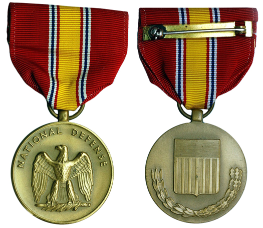 США Медаль За национальную оборону (бронза, диаметр 32 мм), цена 3-4 доллара