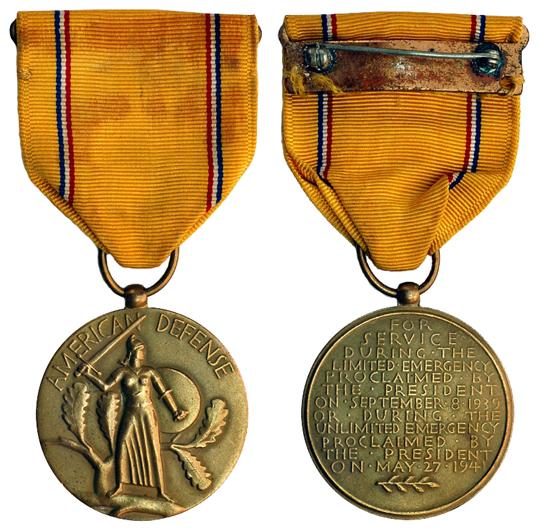 США Медаль За службу по защите Америки (бронза, диаметр 32 мм), цена 3-4 доллара