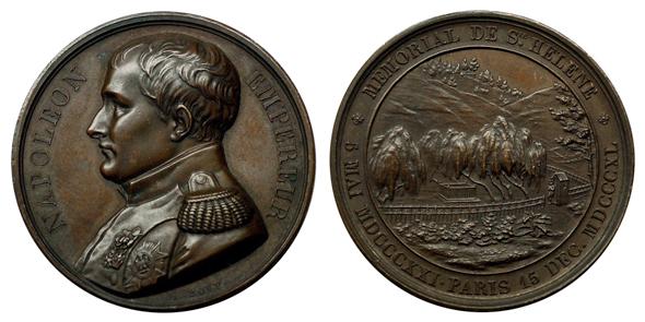 Франция Медаль В память о перезахоронении Наполеона I 1840 (бронза, диаметр 42 мм), цена 60-75 евро