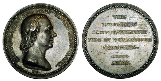 Швеция Медаль Астроном и статист Хенрик Никандер 1805 (серебро, диаметр 40 мм), цена 65-80 евро