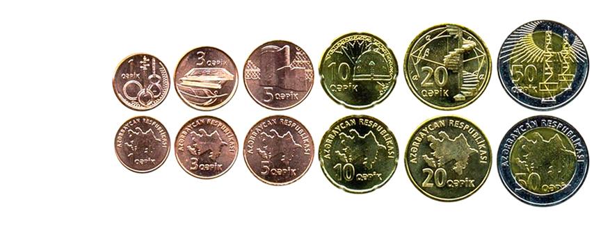 Азербайджанские манаты монеты
