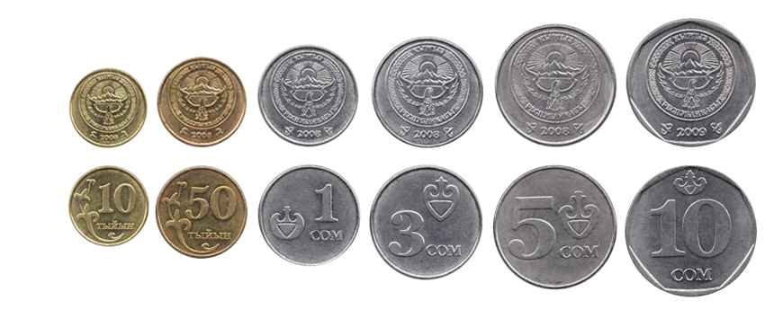 Киргизские сомы в монетах