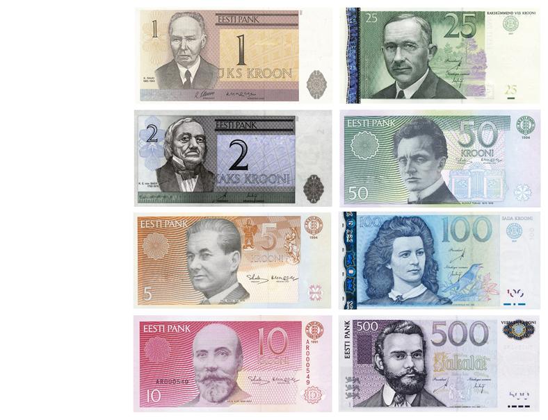 Эстонские кроны банкноты