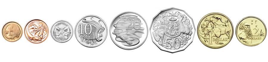 Австралийские доллары монеты