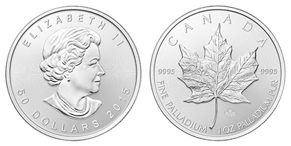 Канада 50 долларов 2015 палладий