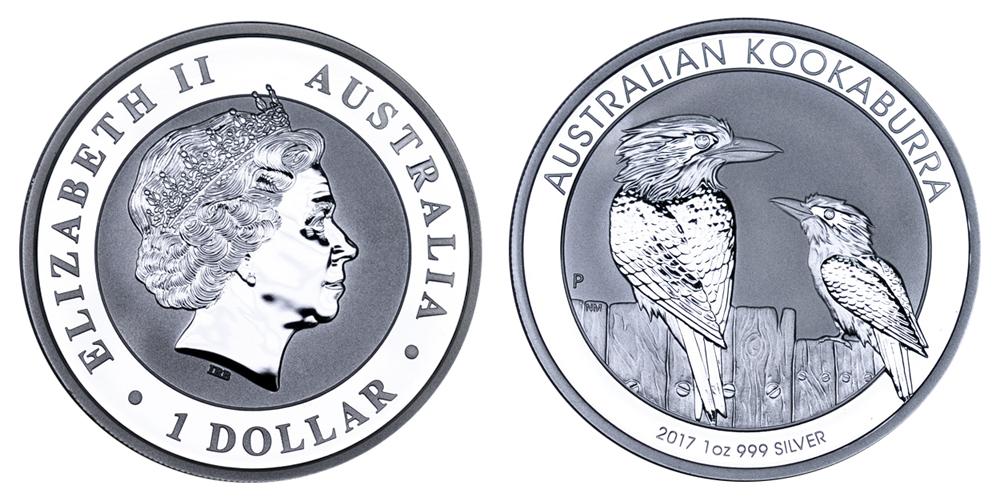 Австралия Доллар с 1992 г. Кукабарра (1 унция серебра)