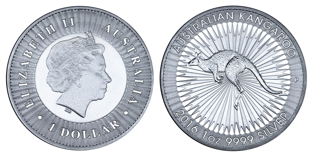 Австралия Доллар с 1993 г. Кенгуру (1 унция серебра)