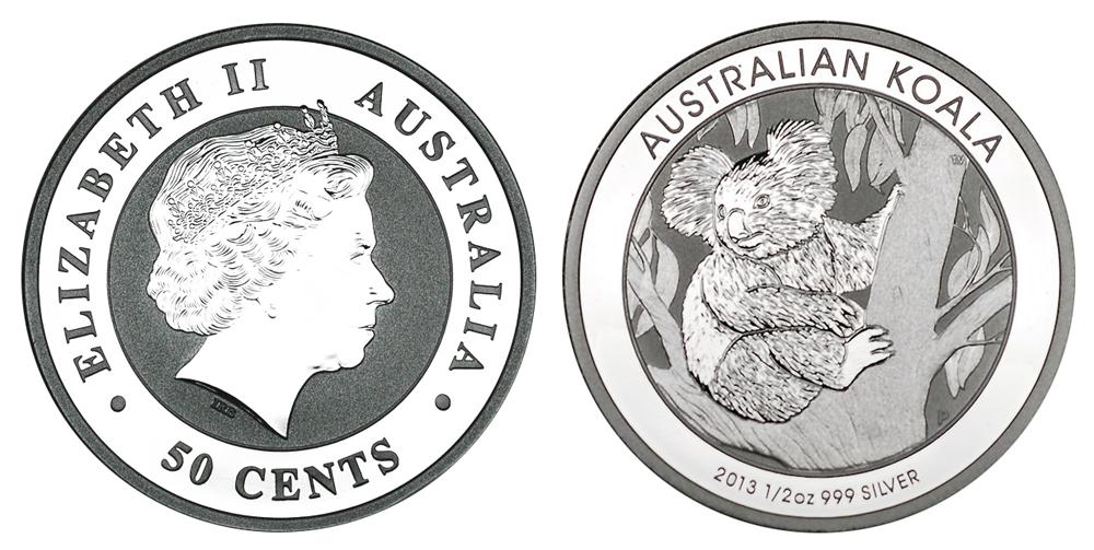 Австралия 50 центов с 1999 г. (0.5 унции серебра)