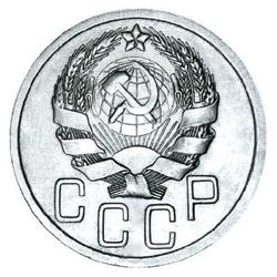 3 и 3 боковые ленты в гербе, без круговой надписи (1935-1936)