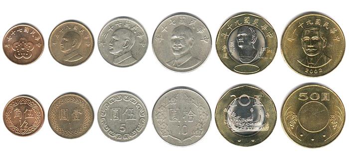 Тайваньские доллары монеты