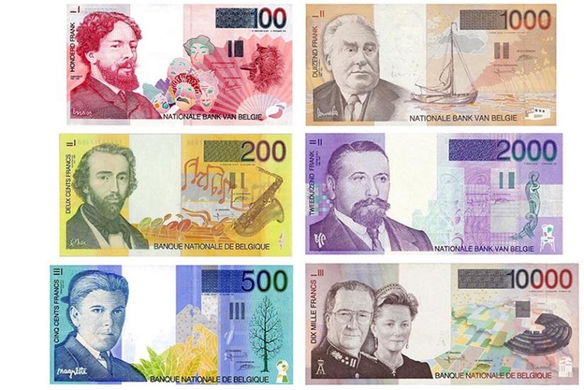 Бельгийские франки банкноты