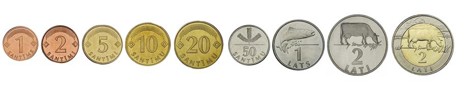 Латвийские латы монеты