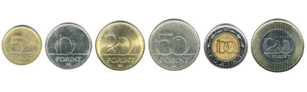 Венгерские форинты монеты