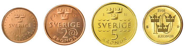 Шведские кроны монеты