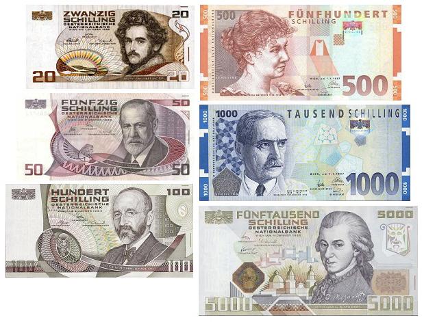 Австрийские шиллинги банкноты