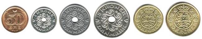 Датские кроны монеты