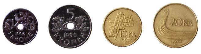 Норвежские кроны монеты