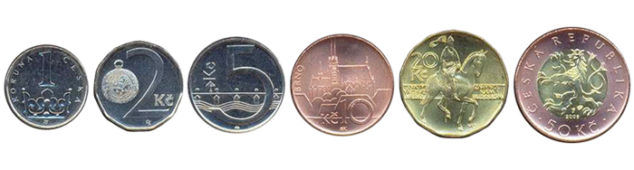 Чешские кроны монеты