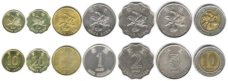 Гонконгские доллары монеты