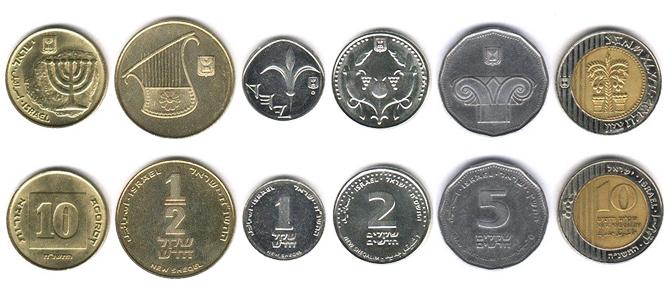 Израильские шекели монеты